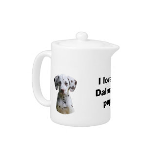 Dalmatian puppy dog photo teapot