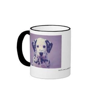 Dalmatian Puppy Face Ringer Mug
