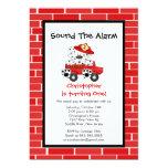Dalmatian Puppy Fire Truck Birthday Party 5x7 Paper Invitation Card
