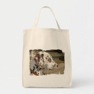 Dalmatian Puppy  Grocery Tote Bags