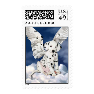 Dalmatian Puppy Painting postage