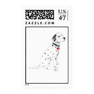 Dalmatian puppy postage