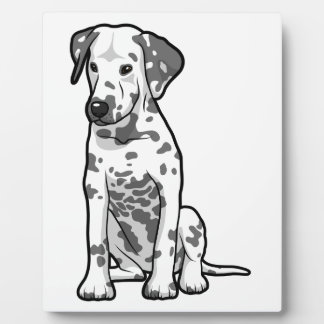 Dalmatian Puppy Sitting Plaque