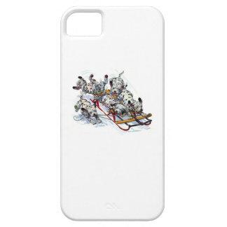 Dalmatian Pups Sledding iPhone SE/5/5s Case