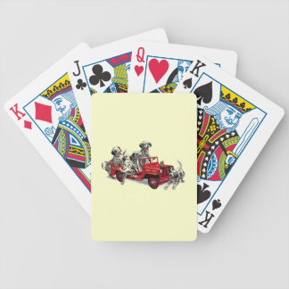 Dalmatian Pups with Fire Truck Bicycle Playing Cards