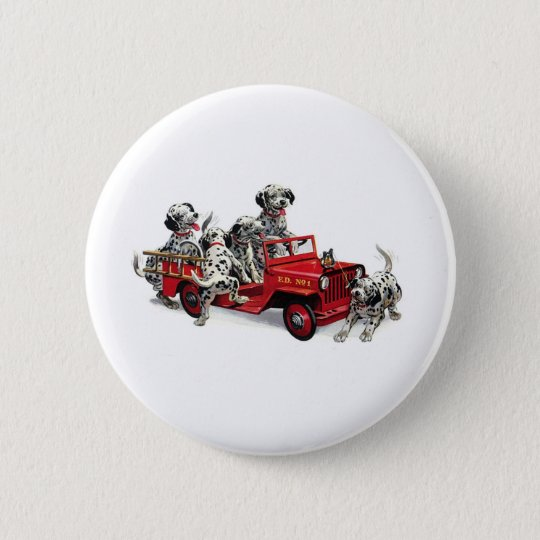 Dalmatian Pups with Fire Truck Button
