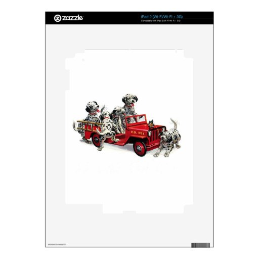 Dalmatian Pups with Fire Truck Decals For iPad 2