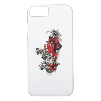 Dalmatian Pups with Fire Truck iPhone 7 Case