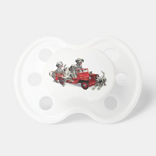 Dalmatian Pups with Fire Truck Pacifier