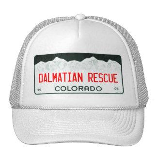 Dalmatian Rescue of Colorado License Plate Wh cap Trucker Hat