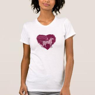 dalmatian rosado camisetas