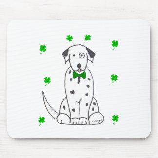 Dalmatian Saint Patricks Day Mouse Pad
