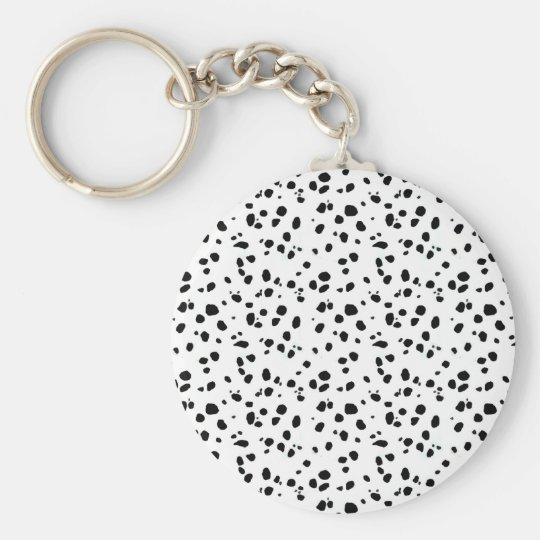 Dalmatian Spots, Dalmatian Print, Dalmatian Fur Keychain