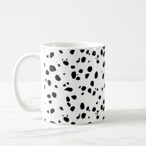 Dalmatian Spots, Dalmatian Print, Dalmatian Fur Classic White Coffee Mug