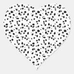Dalmatian Spots, Dalmatian Print, Dalmatian Fur Heart Sticker