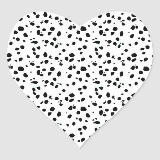 Dalmatian Spots, Dalmatian Print, Dalmatian Fur Heart Stickers