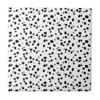 Dalmatian Spots, Dalmatian Print, Dalmatian Fur Small Square Tile
