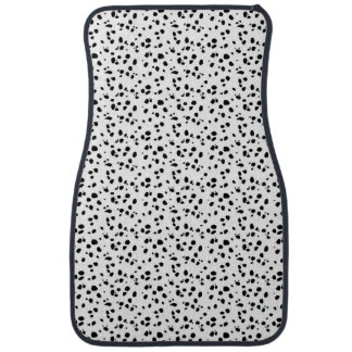 Dalmatian spots in black and white floor mat