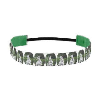 Dalmatian Spotty Dog Art Athletic Headband