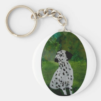 Dalmatian Spotty Dog Art Keychain