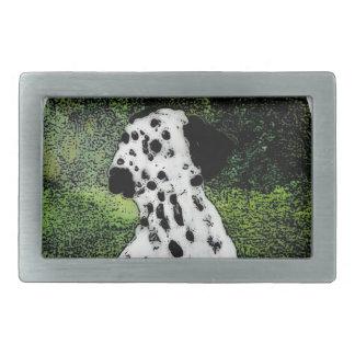 Dalmatian Spotty Dog Art Rectangular Belt Buckle