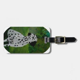 Dalmatian Spotty Dog Art Tag For Luggage
