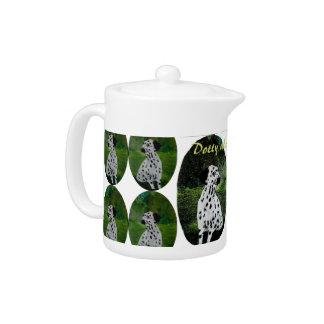 Dalmatian Spotty Dog Art Teapot