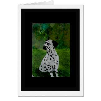 Dalmatian Spotty Dog Artwork Card