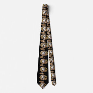 Dalmatian Stepping Out Of Window Frame, Tie