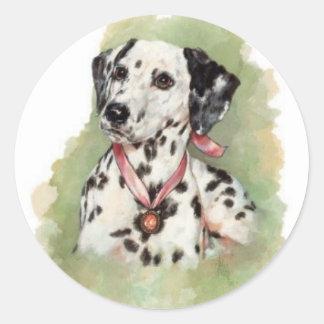 Dalmatian Round Sticker