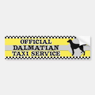 Dalmatian Taxi Service Bumper Sticker Car Bumper Sticker