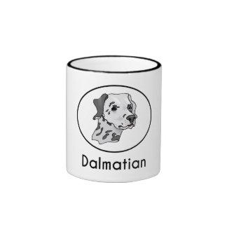 Dalmatian Taza A Dos Colores