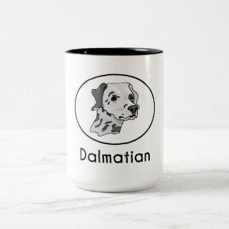 Dalmatian Taza Dos Tonos