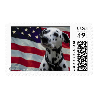 Dalmatian with American Flag Postage