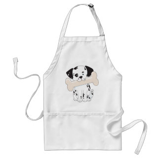 Dalmatian with Bone Adult Apron