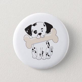 Dalmatian with Bone Button