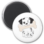 Dalmatian with Bone Refrigerator Magnets