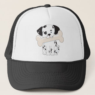 Dalmatian with Bone Trucker Hat