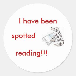 dalmatian with book sticker