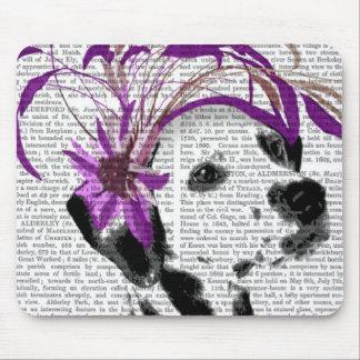 Dalmatian With Purple Fascinator Mouse Pad