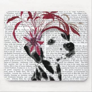 Dalmatian With Red Fascinator Mouse Pad