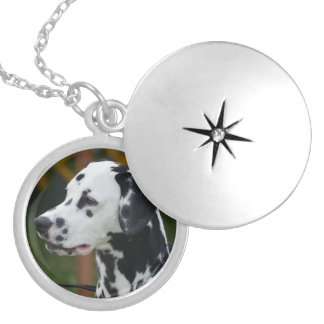 Dalmatian with Spots Locket Necklace