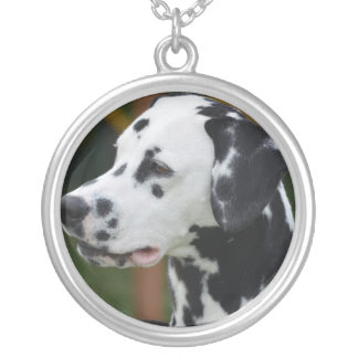 Dalmatian with Spots Silver Plated Necklace