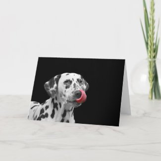 Dalmatian with Tongue Out! Card