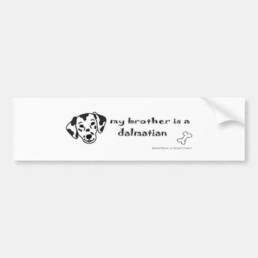 DalmatianBrother Car Bumper Sticker