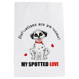 Dalmatians are awesome medium gift bag
