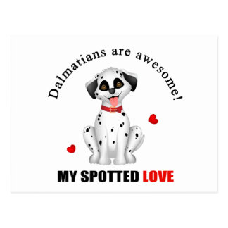 Dalmatians are awesome postcard
