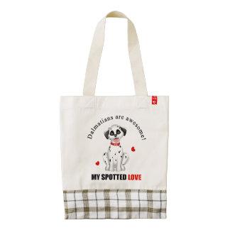 Dalmatians are awesome zazzle HEART tote bag