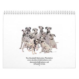 Dalmatians Dobles 2010 de la d Calendarios De Pared