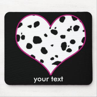 Dalmatians heart mouse pad